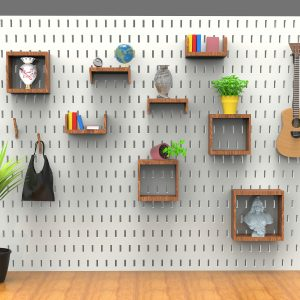 Baitian Lu project: wall with shelves