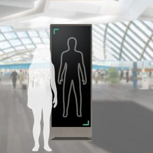 The self scanner promotes transparency between the passenger and the TSA
