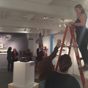 Students setup the Cirkut exhibit.