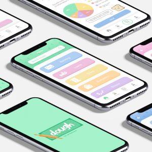 """""""dough"""" App Screens"""