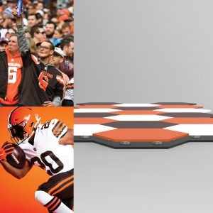 Kinetico tiles that are unique to each team and implemented into the stadiums