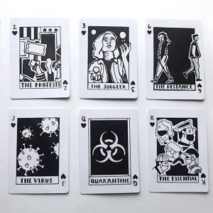 Kathy Pittorf | Playing Cards: Partial Suit of Hearts