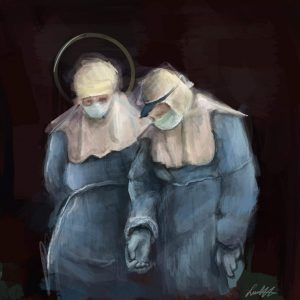 Leito Navarrete   Two Nurses in Armor