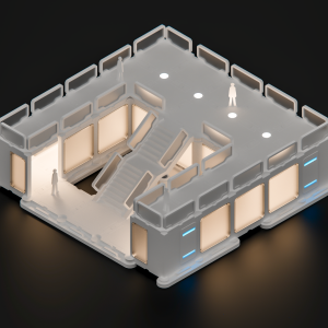 Modular Office House with Ideal Lighting