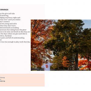 Sunday Mornings poem and photo