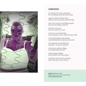 Comforter poem and photo