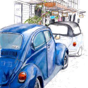 Student illustration artwork.