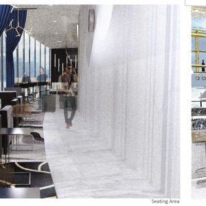 An EDI student's concept for a restaurant intended for travelers passing through Syracuse.